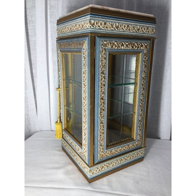 Italian Italian Tabletop Display Case With Marble Top For Sale - Image 3 of 7