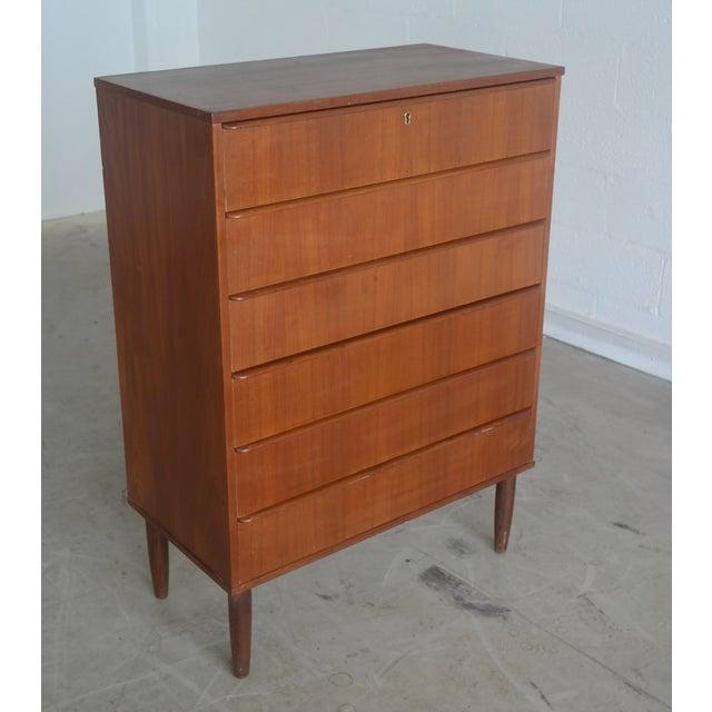 Danish Modern Teak Tallboy Dresser - Image 2 of 6