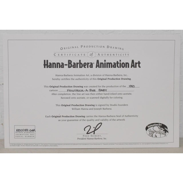 Barney Rubble - Original Animation Art Signed by Hanna & Barbera C.1993 For Sale - Image 9 of 10