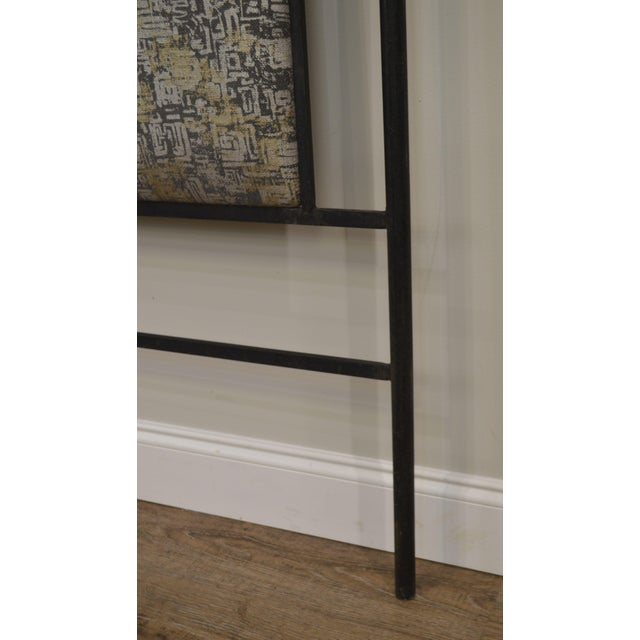 Hollywood Regency Mid Century Iron Full Size Poster Headboard For Sale - Image 10 of 13