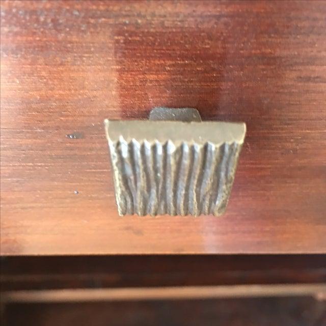 Bamboo Inlay Wood & Glass Bureau - Image 6 of 10