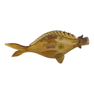 Orvieto Hand-Blown Glass Fish Form Wine Bottle For Sale