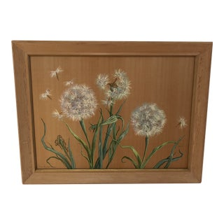 Painting of Dandelions by Joan Beringer Pripps For Sale