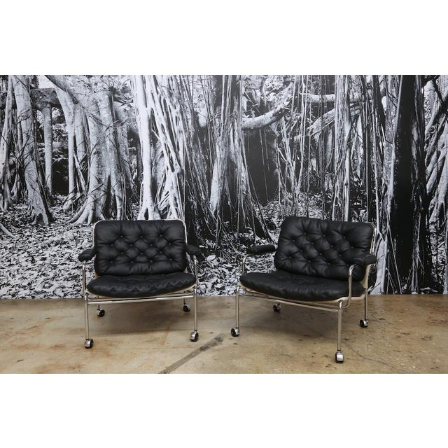 Bruno Mathsson Style Easy Chairs - a Pair - Image 2 of 5