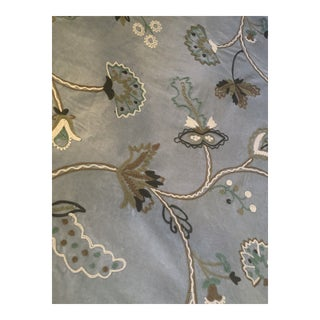 F.Schumacher Everard Embroidered Velvet - 14 Yards For Sale