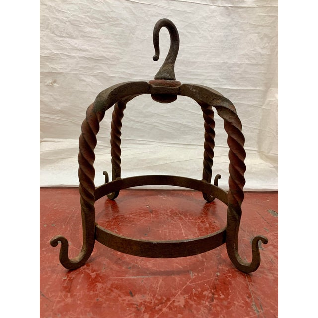 French Wrought Iron Butcher's Rack For Sale - Image 4 of 8