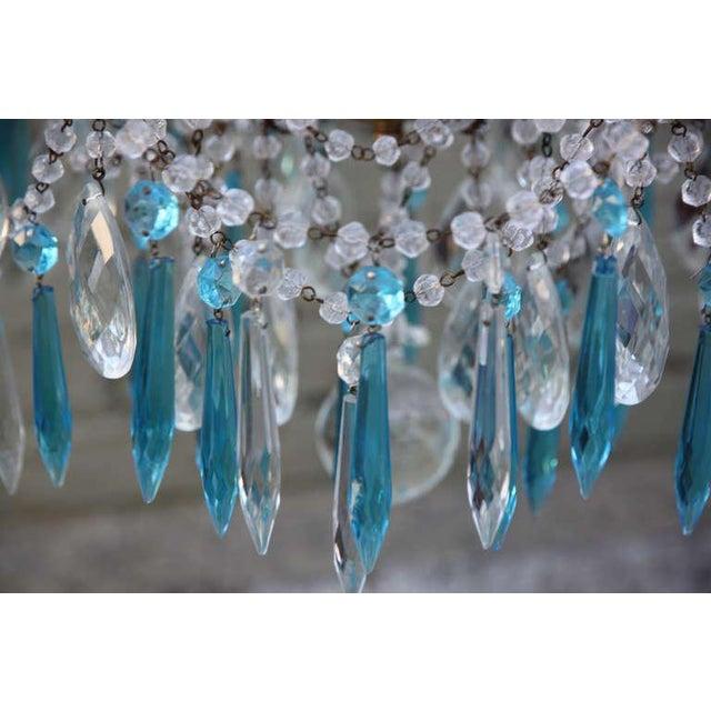 Italian Crystal Beaded Chandelier $3,400 For Sale - Image 4 of 9