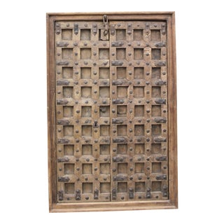 Antique Gujrat Carved Door For Sale