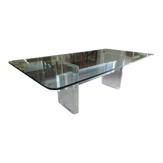 Karl Springer Lucite Dining Table