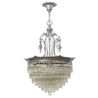 American Tiered Crystal Fixture For Sale