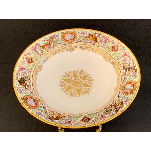 French Sevres Porcelain Ormolu Tazza, From the Hunting Service of King Louis Philippe For Sale - Image 3 of 12