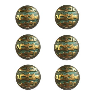 Modernist Fish Knobs, - Set of 6 For Sale