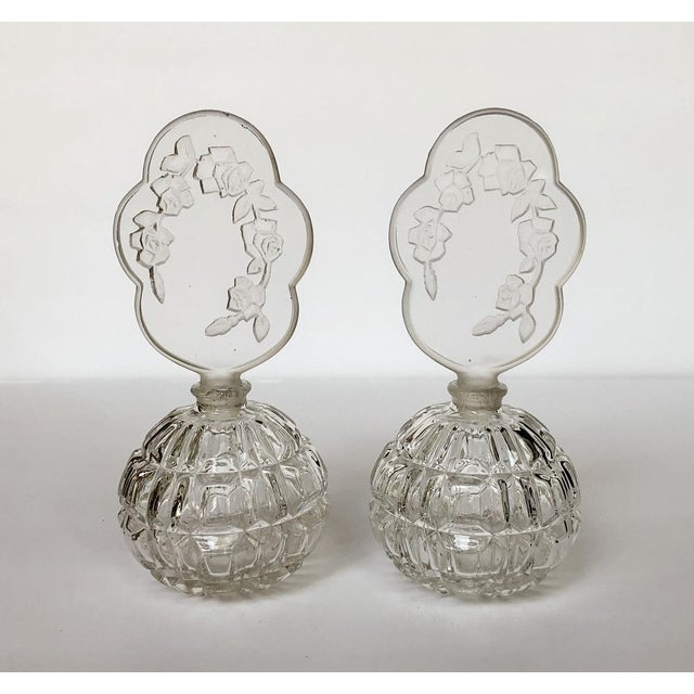 Czech Perfume Bottles Flacon Stoppers Dresser Vanity Pair For Sale In Richmond - Image 6 of 6