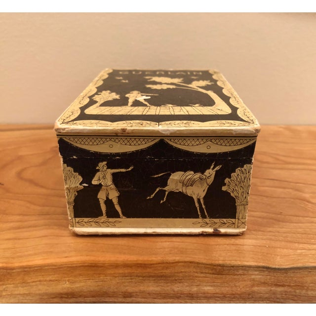 Mid 20th Century Vintage Mid-Century Hinged Guerlain Box For Sale - Image 5 of 12