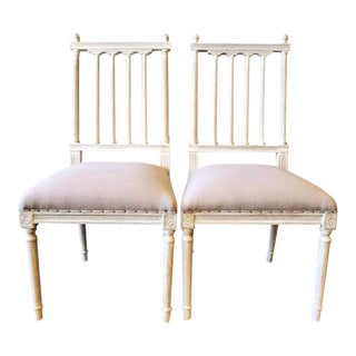 Aidan Gray Dining Chairs- Set of 2 For Sale