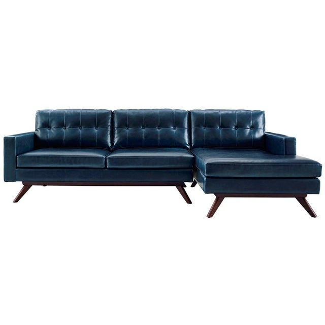 Two Piece Antiqued Leather Sectional Sofa - Image 1 of 4
