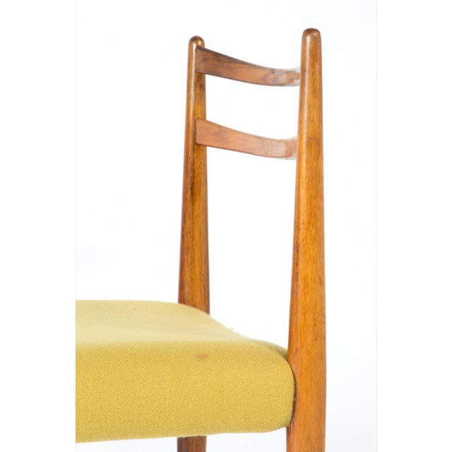Yellow 1960s Yellow Fabric Rosewood Danish Modern Chairs- Set of 4 For Sale - Image 8 of 12