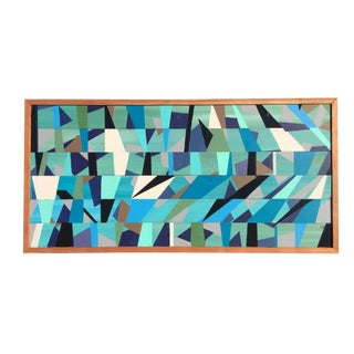 Framed Contemporary Painting On Wood