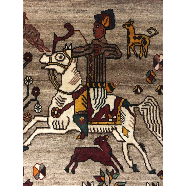 Mid 20th Century Vintage Qashqai Rug For Sale - Image 5 of 6