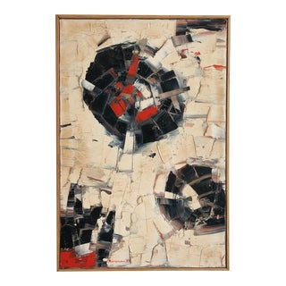 Abstract Vintage Marion Riseman (1928 -2010) Palette Knife Original Painting For Sale