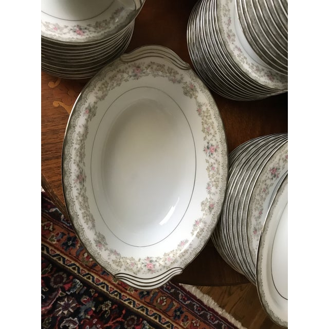 Ceramic Vintage Noritake # 5807 Edgewood Service for 12 Dinnerware - 94 Pieces,reduced Final For Sale - Image 7 of 12
