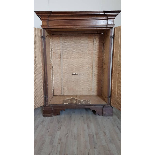 Brown 17th Century Italian Louis XIV Walnut Wardrobe For Sale - Image 8 of 12