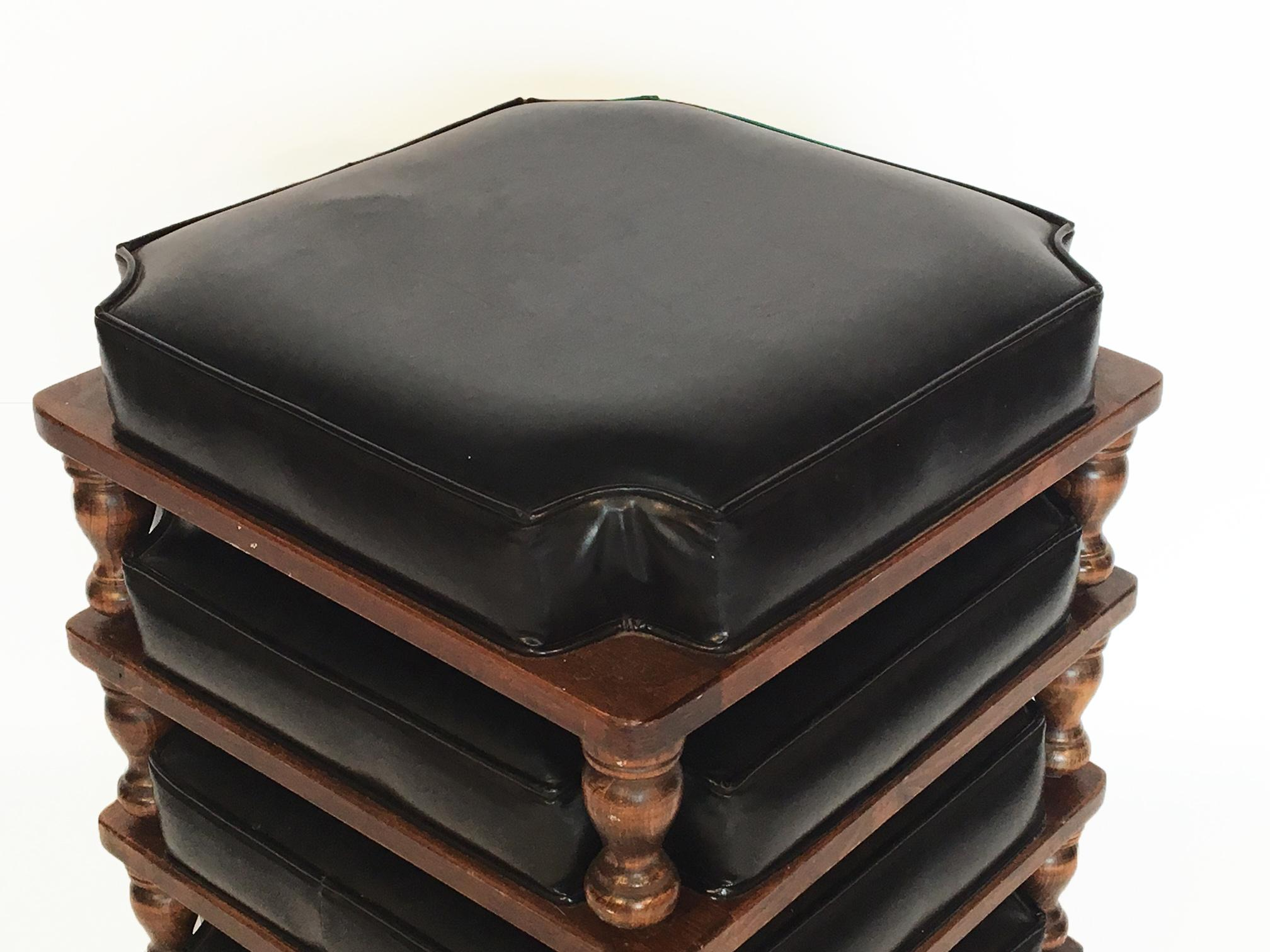 Mid Century Stacking Footstools By Ethan Allen Set Of 4