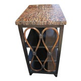 Image of Asian Modern Palecek Rattan/Bamboo Side Table With Horn Top For Sale
