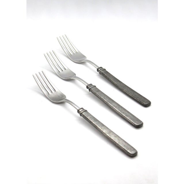 Match Italian Pewter Dinner Forks - Set of 3 For Sale In Los Angeles - Image 6 of 6