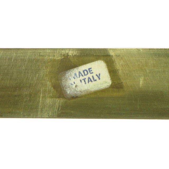 Italian Postmodern Architectural Brass & Glass Coffee Table - Image 10 of 10