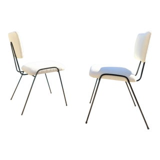 Mid-Century Carlo Hauner Style Modernist Wrought Iron Chairs - a Pair For Sale