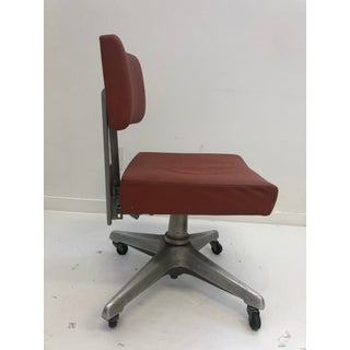Vintage Industrial Orange Swivel Office Chair by Goodform Preview