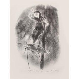 "1939 Yasuo Kuniyoshi ""Tightrope Performer"", Original Period Lithograph For Sale"
