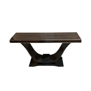 Art Deco Style Macassar Ebony Console For Sale