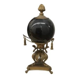 Lidded Faux Marble Urn