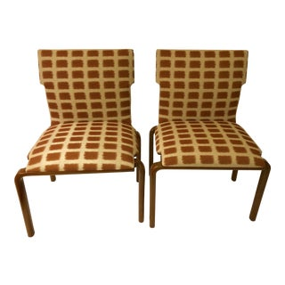 1970's Bentwood Slipper Chairs - a Pair