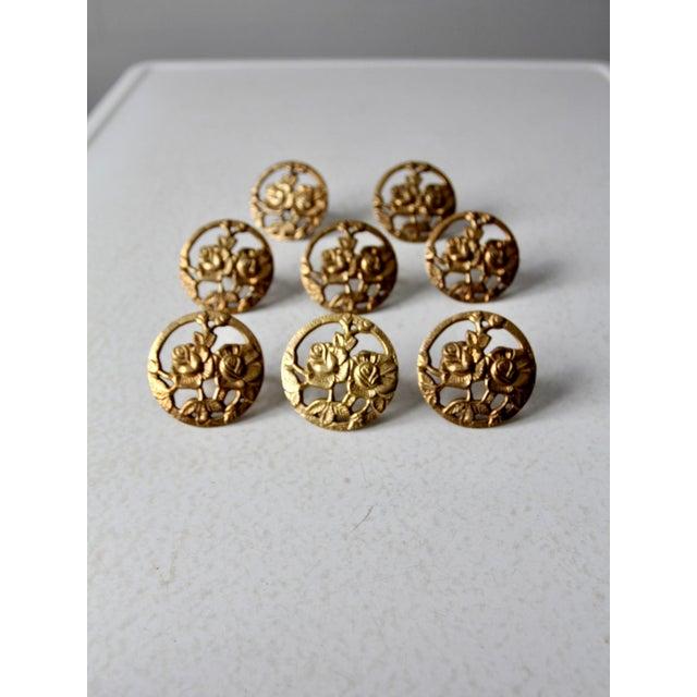 Vintage Brass Napkin Rings - Set of 8 For Sale - Image 10 of 10