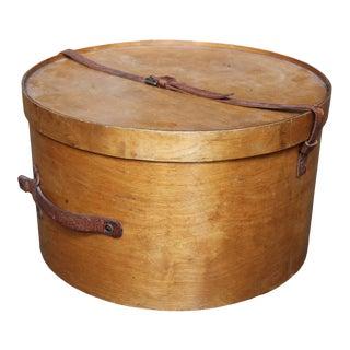Antique Venesta Birch Hat Box For Sale