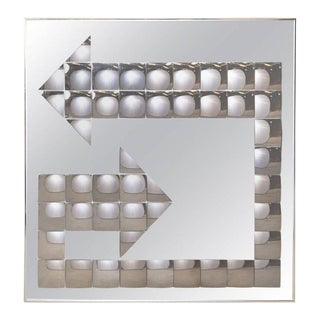 Mid century Vintage Turner Pop Art Bubble Arrow Mirror For Sale