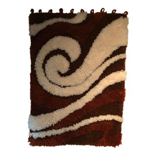 1970s Vintage Danish Shag Rug - 2′4″ × 3′4″ For Sale