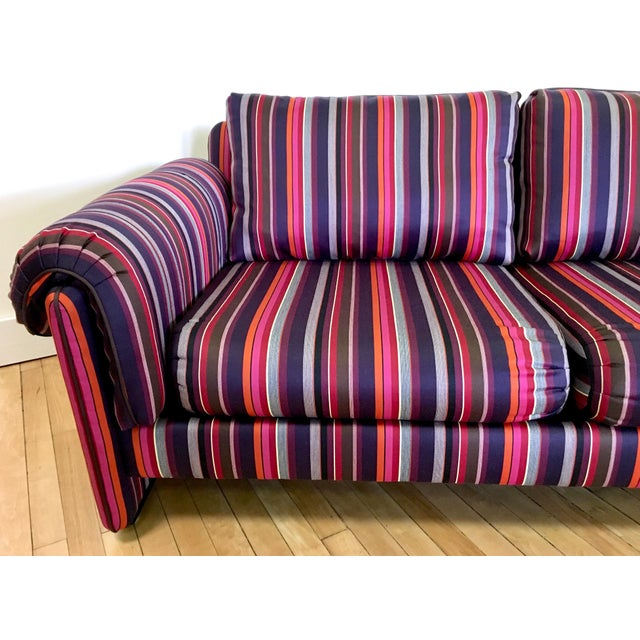 Fabric Mid-Century Vintage John Stuart Sofa Couch For Sale - Image 7 of 10