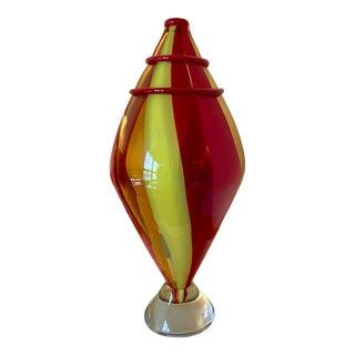 Mid 20th Century Italian Art Glass Sculpture For Sale