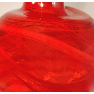Vintage Red Recycled Glass Vase Spain Spanish Jar Bottle Preview