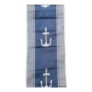 10 Yards Nautical Silk Ikat Fabric For Sale