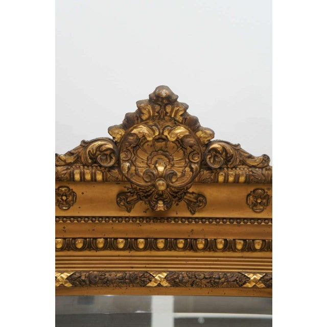 Gold Gilded Floor or Mantle Mirror - Image 8 of 9