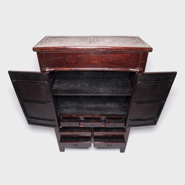 Wood 19th Century Chinese Grand Seven Drawer Cabinet For Sale - Image 7 of 10