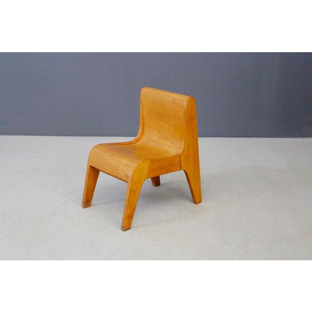 Wood Children Italian Chair Prototype by Pierluigi Ghianda, 1960s For Sale - Image 7 of 7