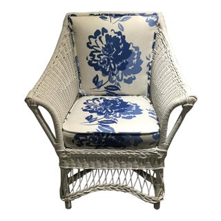 Vintage Wicker Side Chair For Sale