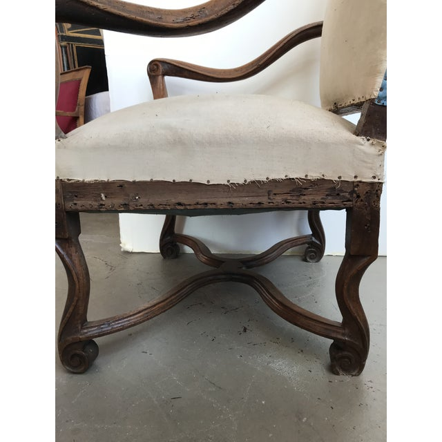 18th Century French Walnut Louis XIII Armchair For Sale In Boston - Image 6 of 8