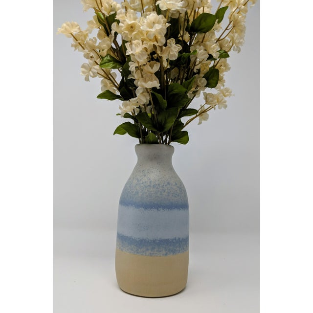 Blue and White Gradient Vase For Sale In Providence - Image 6 of 12